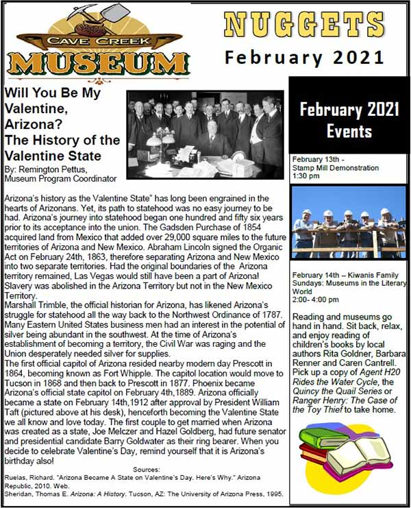 February 2021 Cave Creek Museum Newsletter
