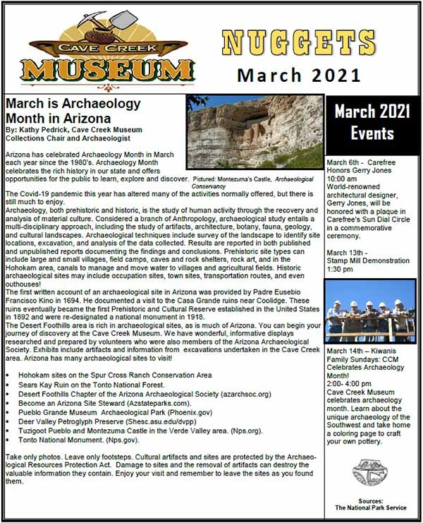 March 2021 Cave Creek Museum Newsletter