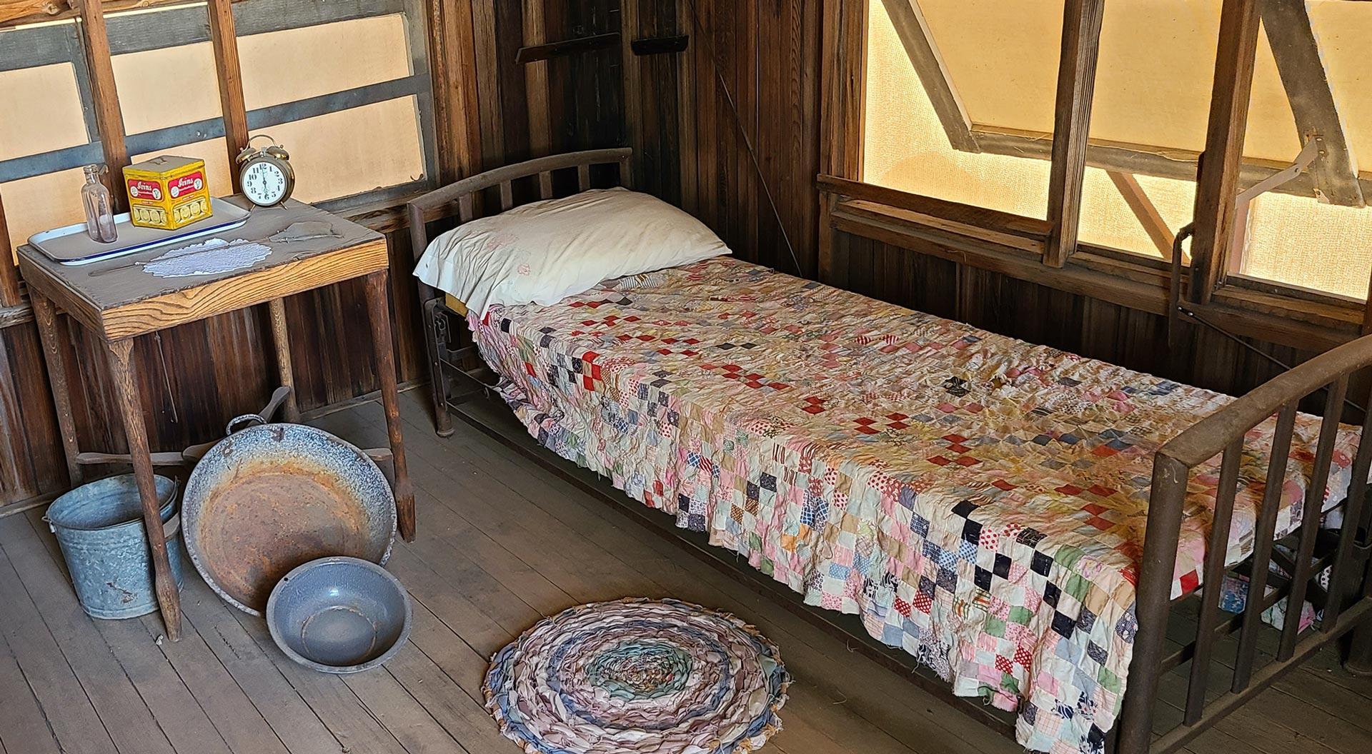 Interior of the Historic Tubercular TB Patient Cabin